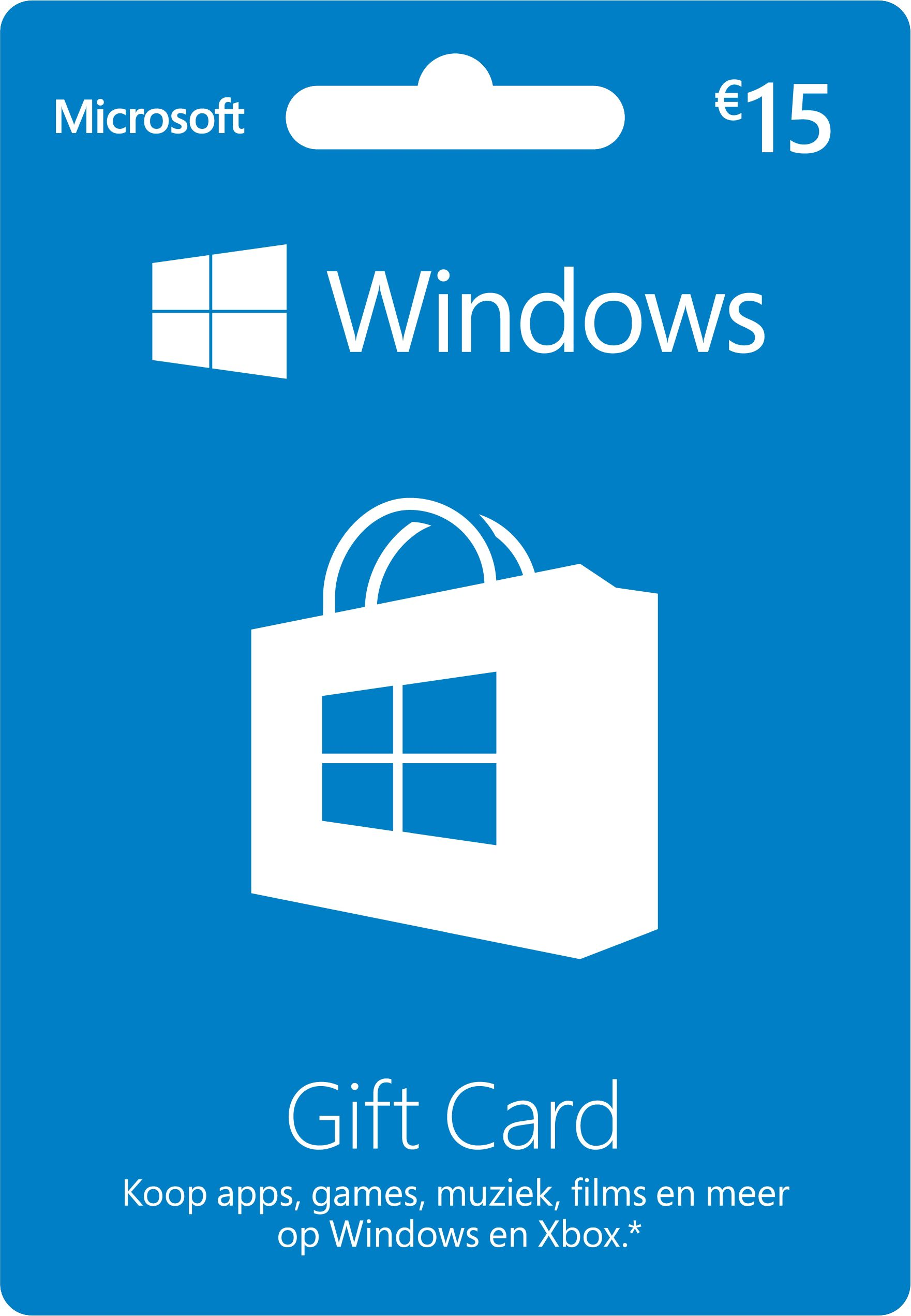 Windows Gift Card 15 euro